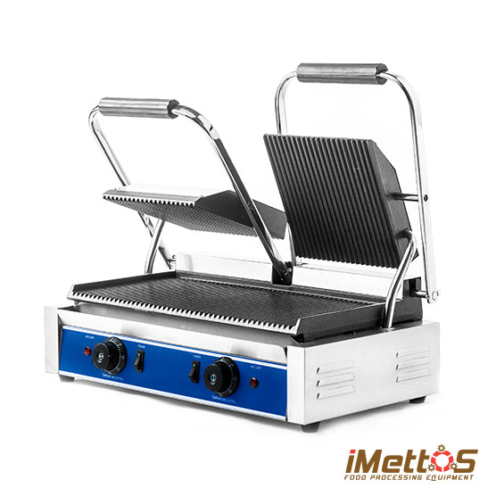 Double Electric contact grills Commercial Twin head 2x1800watt