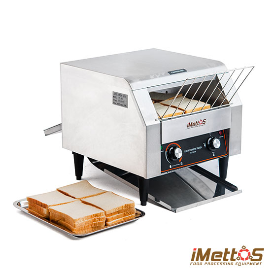 Conveyor Toaster Baking Bread Biscuit by auto chain converyor