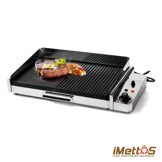 Indoor Tabletop Electric Grill ~ Imettos indoor table top electric griddle and grill with