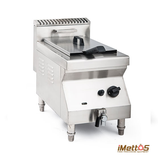 Counter-top Gas Deep Fryer Commercial with Tap, Stainless steel Tank Gas