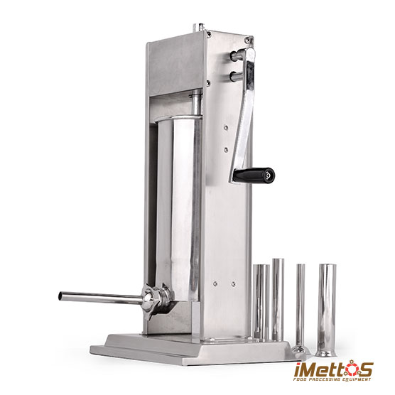 S/S Vertical Manual Sausage filler stuffer, Double speed 7L/15.4 LBS