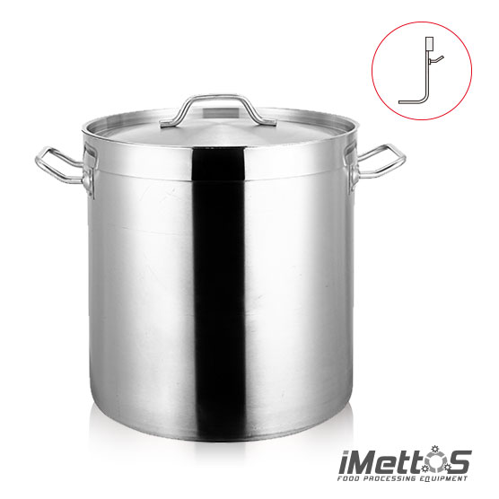 Toll Body Stainless steel Stockpot Commercial grade 3-ply Clad base with Cover