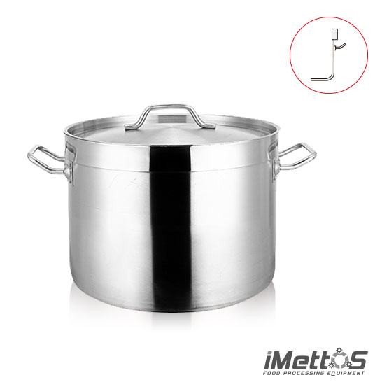 Classic Stainless Steel StockPot Commercial , Shallow body 3-Ply Clad Bottom