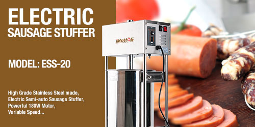 iMettos New Equipment: Electric Sausage stuffer with variable speed